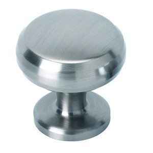 "Alno Creations Cabinet Hardware - Knobs - Solid Brass 1 1/4"" Knob in Satin Nickel"