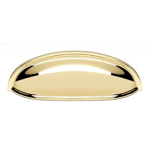 "Alno Creations Cabinet Hardware - Cup Pulls - Solid Brass 3"" Centers Cup Pull in Polished Brass"