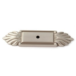 "Alno Creations Cabinet Hardware - Fiore - Solid Brass 4"" Backplate in Satin Nickel"