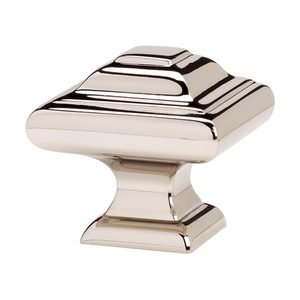 "Alno Inc. Creations - Geometric - Solid Brass 1 1/4"" Knob in Polished Nickel"