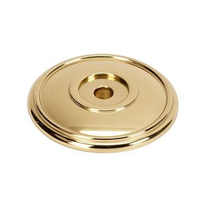"Alno Creations Cabinet Hardware - Classic Traditional - Solid Brass 1 3/8"" Rosette in Polished Brass"