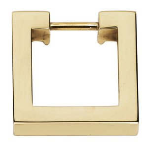 "Alno Inc. Creations - Convertibles Ring Pulls - 1 1/2"" Square Ring in Polished Brass"