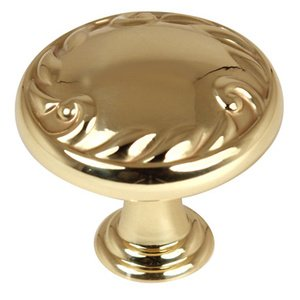 "Alno Inc. Creations - Ornate - Solid Brass 1 1/2"" Diameter Knob in Unlacquered Brass"