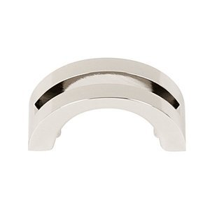 "Alno Creations Cabinet Hardware - Split Top - Solid Brass 1 1/2"" Centers Pull in Polished Nickel"