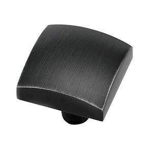 "Alno Inc. Creations - Style Cents - 1 1/4"" Knob in Matte Black"