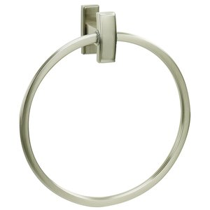 Alno Creations Bathroom Accessories - Arch Bath Towel Ring in Satin Nickel