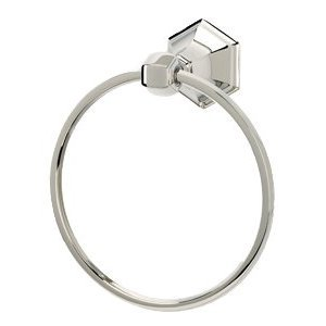 "Alno Creations Bathroom Accessories - Nicole 7"" Towel Ring in Polished Chrome"
