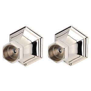Alno Creations Bathroom Accessories - Nicole Shower Rod Brackets (priced per pair) in Polished Nickel