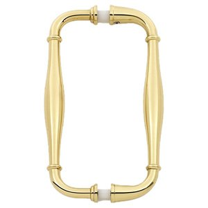 "Alno Cabinet Hardware - Charlie's - 6"" Centers Back To Back Pulls in Polished Brass"