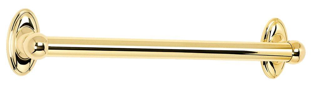 Bathroom Accessories Grab Bars alno creations shop: a8023-18-pb | grab bar | polished brass