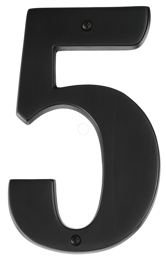 5 Bronze House Numbers