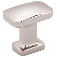 "Alno Inc. Creations - Cloud - 1"" Rectangular Knob in Polished Nickel"