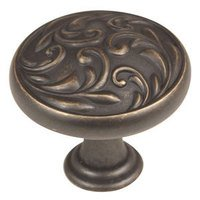 "Alno Inc. Creations - Ornate - Solid Brass 1 1/4"" Diameter Knob in Barcelona"