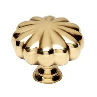 "Alno Inc. Creations - Knobs III - Solid Brass 1 1/2"" Knob in Polished Antique"