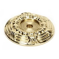 "Alno Inc. Creations - Ribbon & Reed - Solid Brass 1 5/8"" Backplate in Polished Brass"