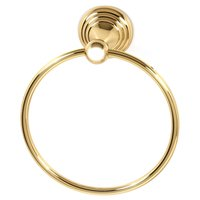 "Alno Inc. Creations - Embassy - 7"" Towel Ring in Polished Brass"