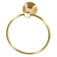 "Alno Inc. Creations - Embassy - 7"" Towel Ring in Unlacquered Brass"